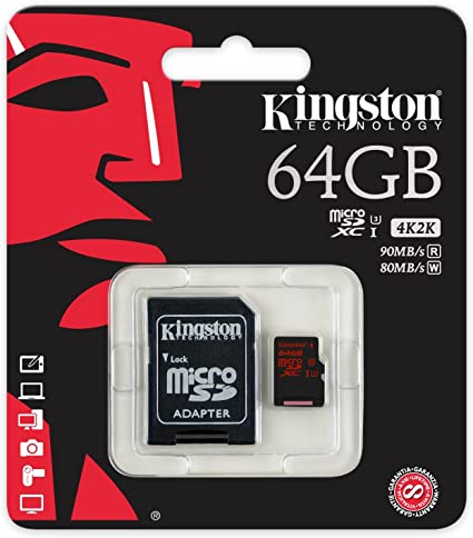 Professional Kingston 64GB for Samsung Rex 80 MicroSDXC Card Custom Verified by SanFlash. 80MBs Works with Kingston