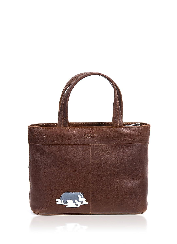 Mala Leather MATRAH Collection Leather Animal Print Grab Bag 7105/_90