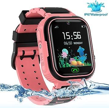 LDB Reloj Inteligente para Niños, SmartWatch Niños GPS/LBS Tracker ...