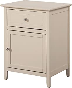 Glory Furniture 1 Drawer /1 Door Nightstand, Beige