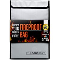 Fireproof Document Bag (2000℉), Protect Important Documents, Fireproof Bags (Extra Strength), Waterproof and Fireproof…