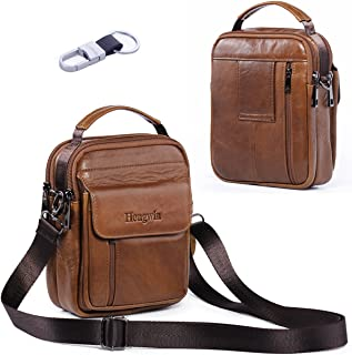 Hwin Holster Case with Belt Loop Leather Men Small Crossbody Travel Shoulder Bag Belt Pouch Waist Bag Fanny Messager Pack Handbag Purse iPhone 6s/7/8 Plus Briefcase Business Work Bags+Hwin Keychain Hengwin 4326521645