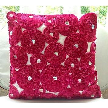 Amazon.com: Funda gris Accent almohadas, flores de cinta ...