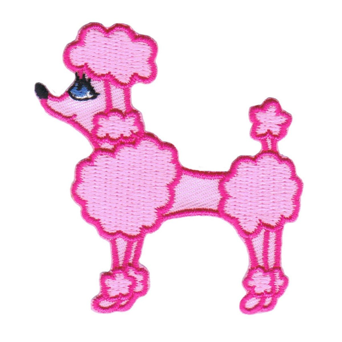 50s Pink Poodle Iron On Applique One Size
