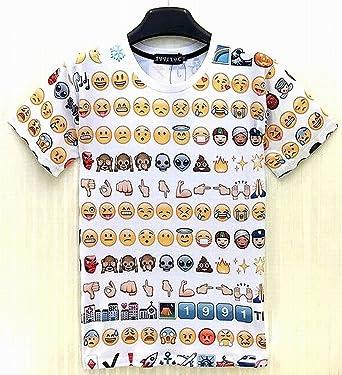 顔文字 Tシャツ 絵文字 シャツ 半袖 Sサイズ 胸囲 86cm [並行輸入品]