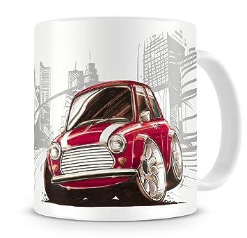 Koolart Cartoon Dessin De Austin Rover Mini Cooper Tasse à Café