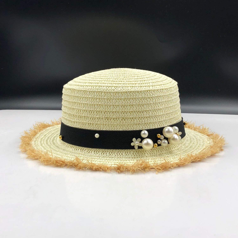 Sun Hats Flat top Straw hat Summer Spring Womens Trip caps Beach Breathable