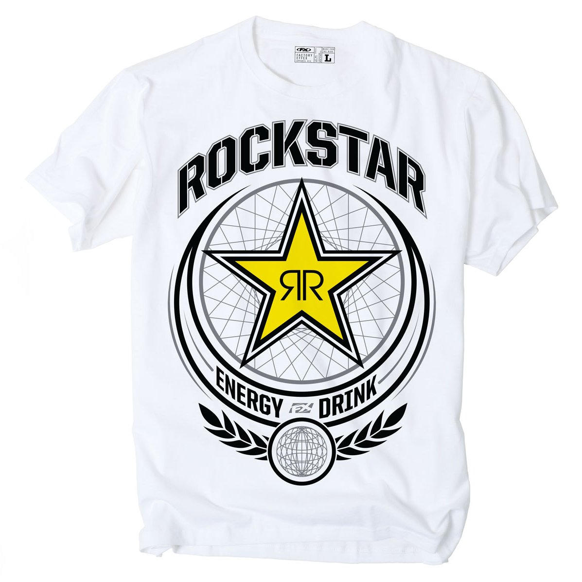 Factory Effex 'ROCKSTAR' Imperial T-Shirt (White, Large) 17-87634
