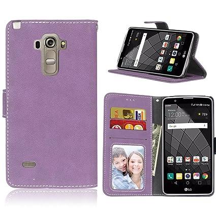 Amazon.com: LG G4 Stylus Funda Estilo portafolios, fubaoda ...