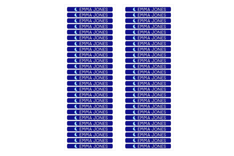 Couleur Corail 50 Mini /étiquettes adh/ésives personnalis/ées pour marquer des objets stylos Mesurer 4,2 x 0,5 cm crayons etc