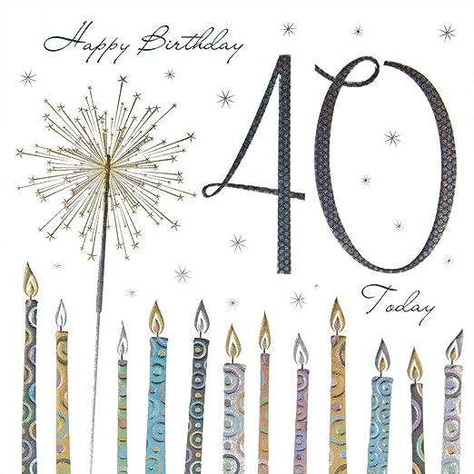 Calidad tarjeta de felicitación 40 cumpleaños Tracks Bengala ...