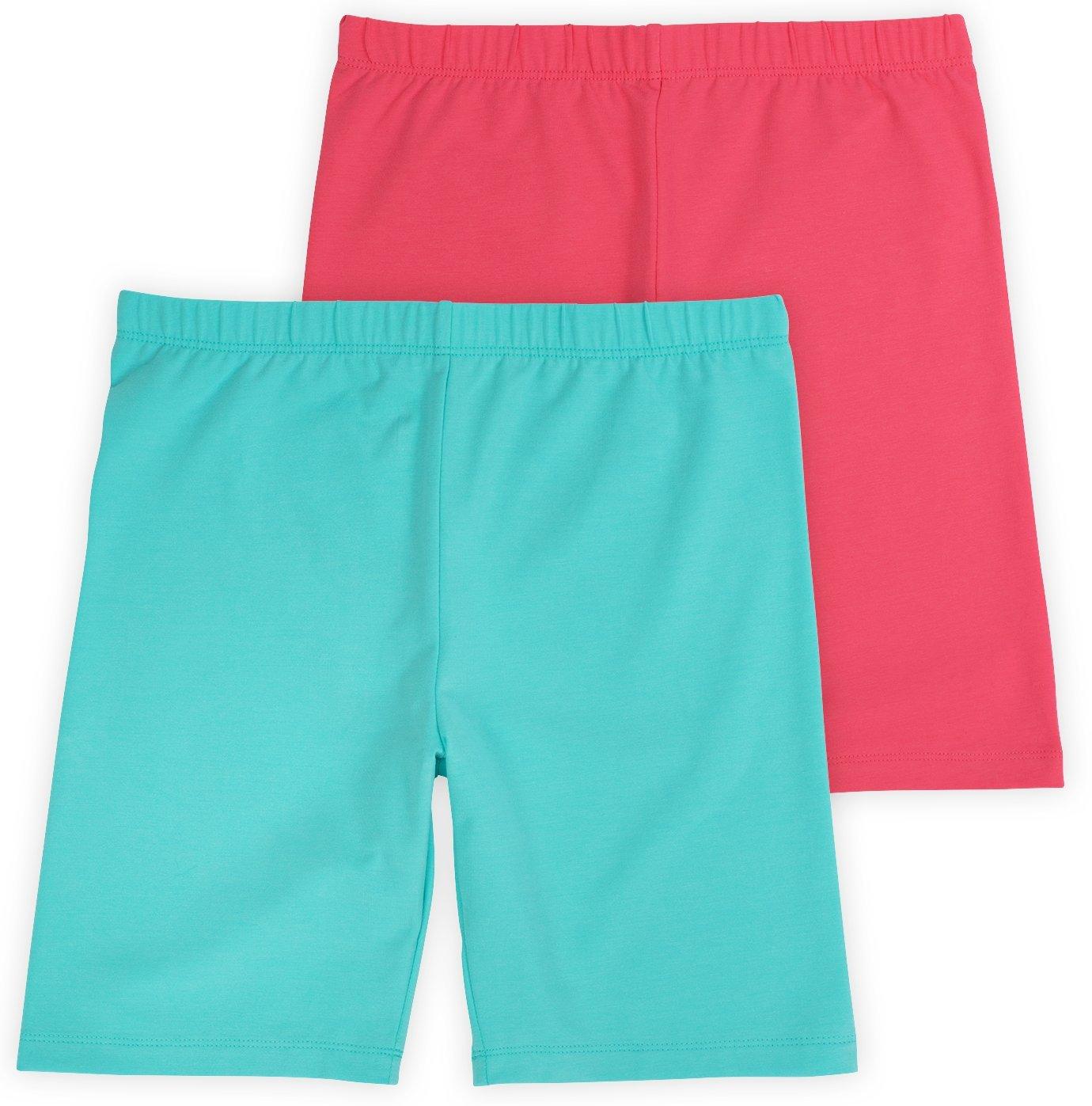 Annelle Pippa Big Girls Bike Underwear Shorts, Tagless, Soft Cotton, 2-Pack, Undershorts, Sunset, 12