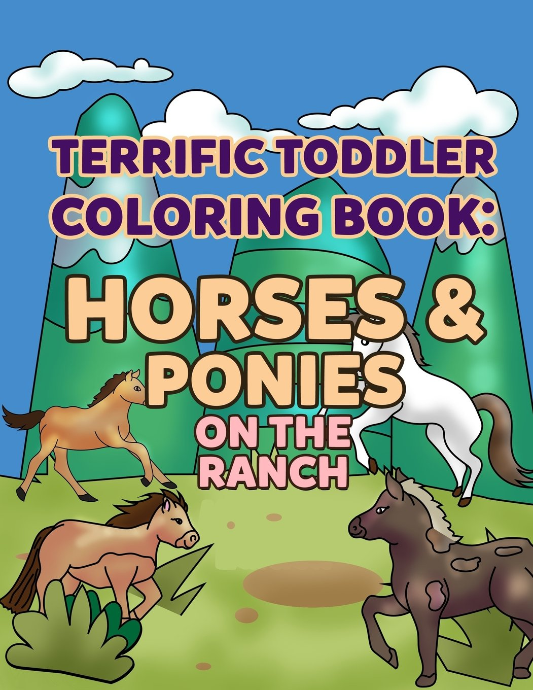Amazon.com Coloring Books for Toddlers Horses & Ponies on the ...