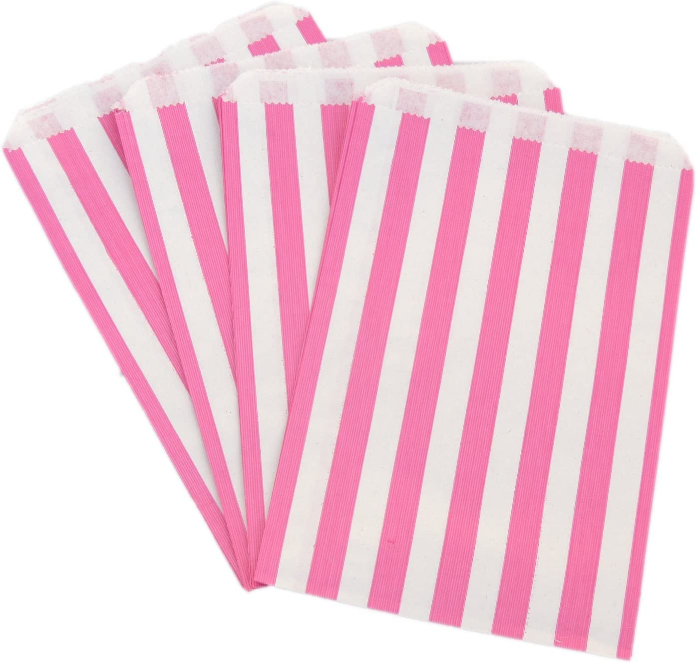 "1000 Blue Candy Stripe Paper Wedding Sweet Bar Gift Shop Food Party Bags 7/"" x 9/"""
