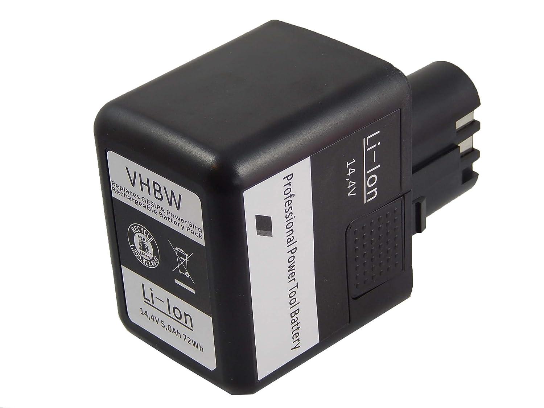 vhbw Batería de Li-Ion 5000mAh (14.4V) para Herramientas ...