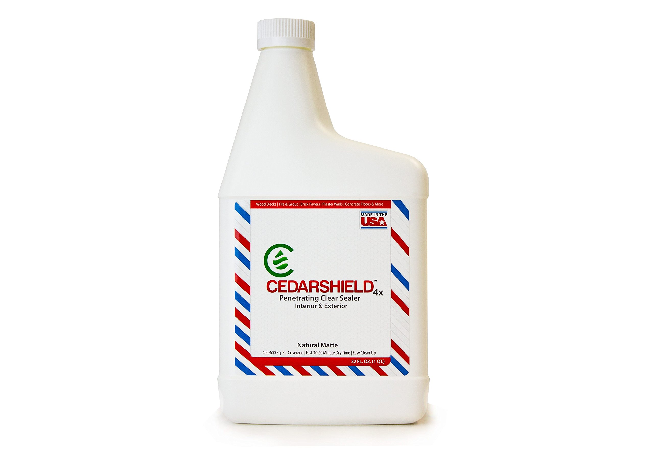 Cedarshield 4X – Penetrating Clear Sealer – Interior + Exterior – Natural Matte (Quart)
