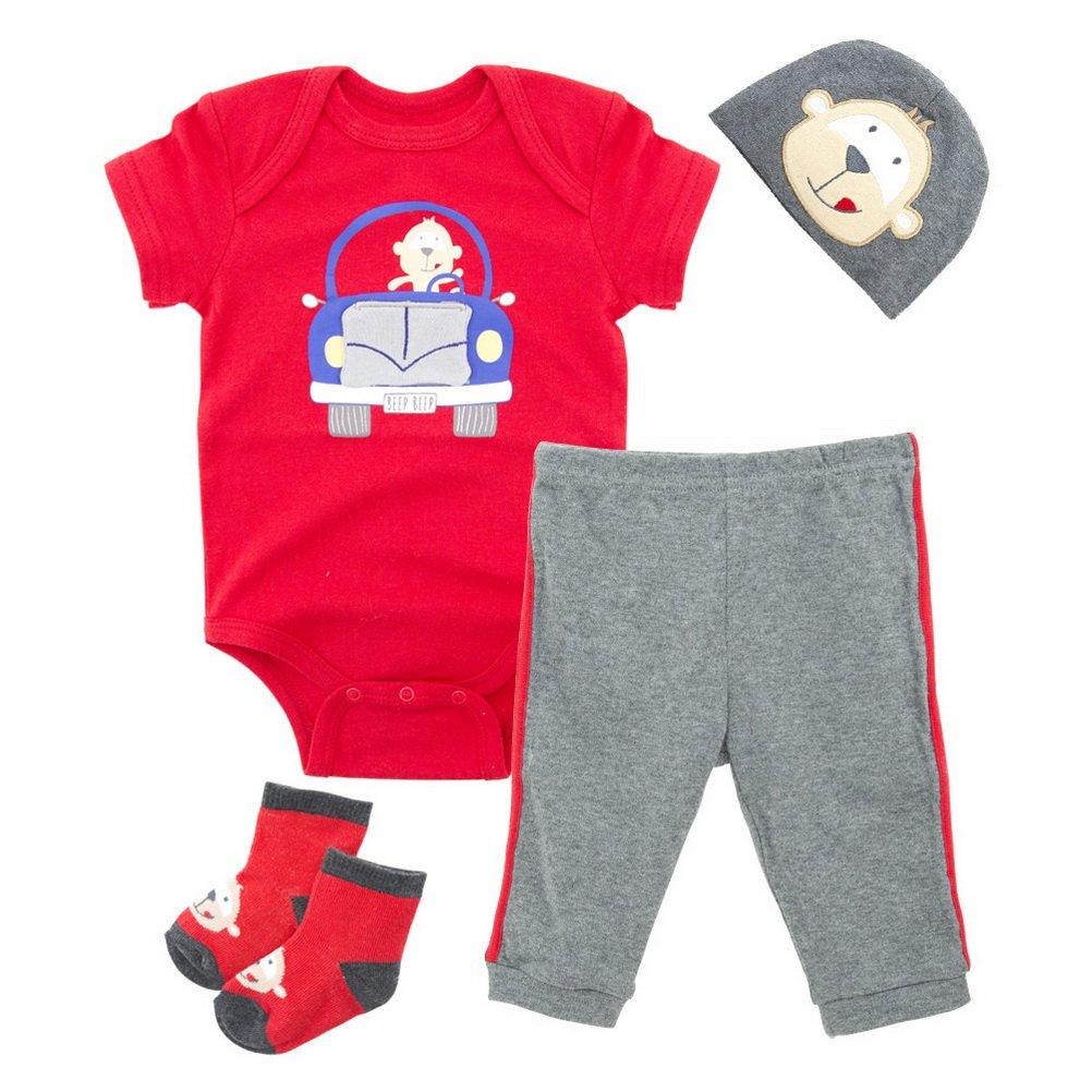 Babynice Vêtements Ensemble Bébé Body Combinaison+Pantalon Casual+Bandeau  +Chaussettes Souple Tenue 4pcs Nouveau-Né 0-12mois  Amazon.fr  Vêtements et  ... a51160c4306