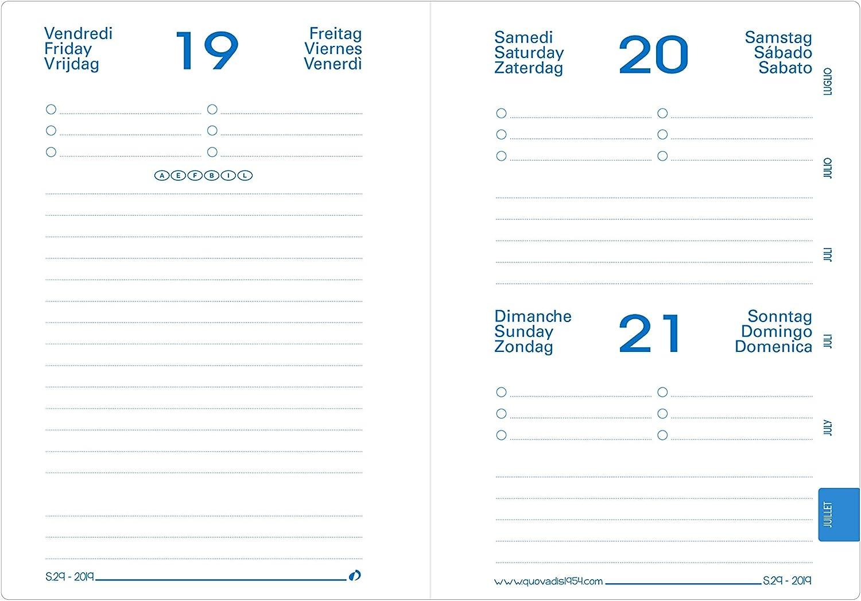 QUO VADIS 1281570Q DIARIO SCOLASTICO Anno 2020-2021 EUROTEXTAGENDA Multilingua Galaxy rosso 12x17 Giornaliera 12 MESI AGOSTO-LUGLIO