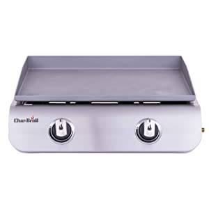Char-Broil 19952085 22-inch 2-Burner Tabletop Gas Griddle, Gray