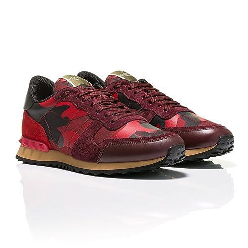 Valentino - Zapatillas para hombre Rojo Red, color Rojo, talla 44 EU: Amazon.es: Zapatos y complementos
