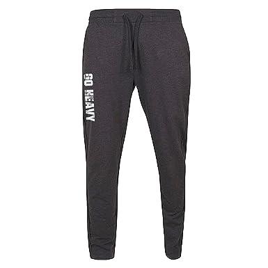GO HEAVY Pantalones de chándal para Hombres - Gris XL: Amazon.es ...