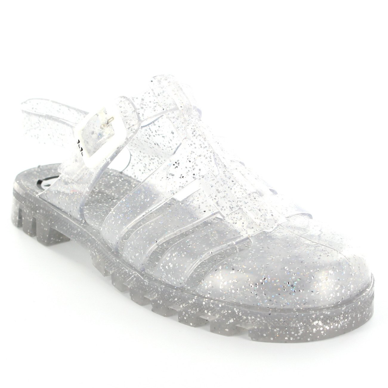 4bfc9382a590 JuJu Womens Maxi Jelly Festival Holiday Summer Flat Jellies Buckle Sandal UK  3-8  Amazon.co.uk  Shoes   Bags
