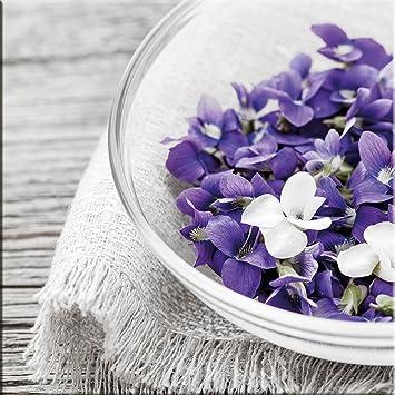 artissimo, Glasbild, 20x20cm, AG1353A, Purple Arrangement II, lila ...