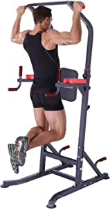 K KiNGKANG Power Tower - Pull up Bar Home Gym Adjustable Multi-Function Fitness Strength Training Equipment Stand Workout Station