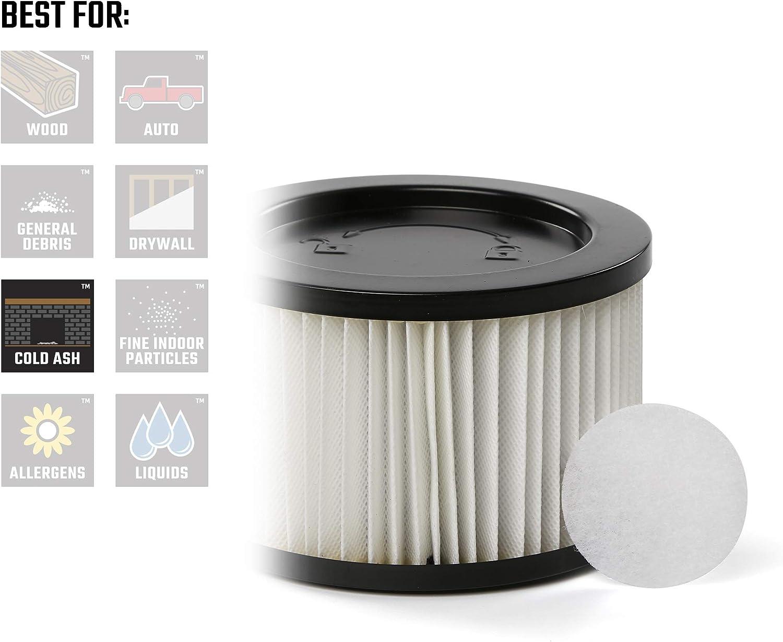 CRAFTSMAN 43268 Ash Vacuum HEPA Media Replacement Filter for 5 Gallon Ash Vac EMERSON TOOL COMPANY