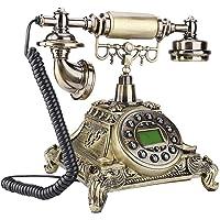01 Teléfono Retro Vintage, teléfono Fijo Antiguo de imitación de Estilo Europeo para la Oficina en casa, rellamada de…