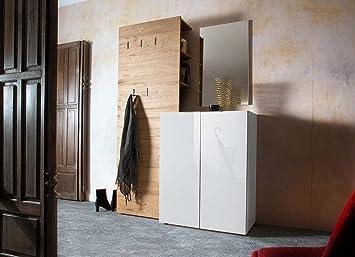 Lifestyle4living Garderobe Garderobenschrank Garderoben Set