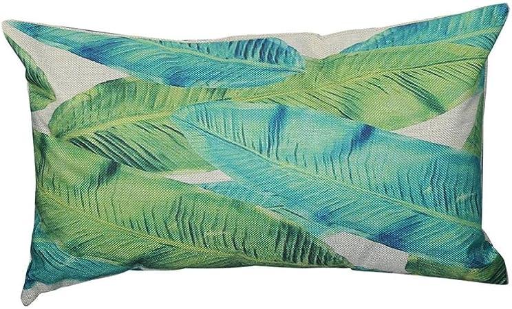 Fossrn Fundas de Cojines Almohada Tropical Hojas Funda de Cojines para Sofa Jardin Cama Decorativo - 30x50 cm (B): Amazon.es: Hogar
