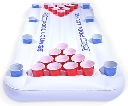 Giant Beer Pong Mesa Tumbona Piscina Divertida Fiesta Beber Juegos para Adultos