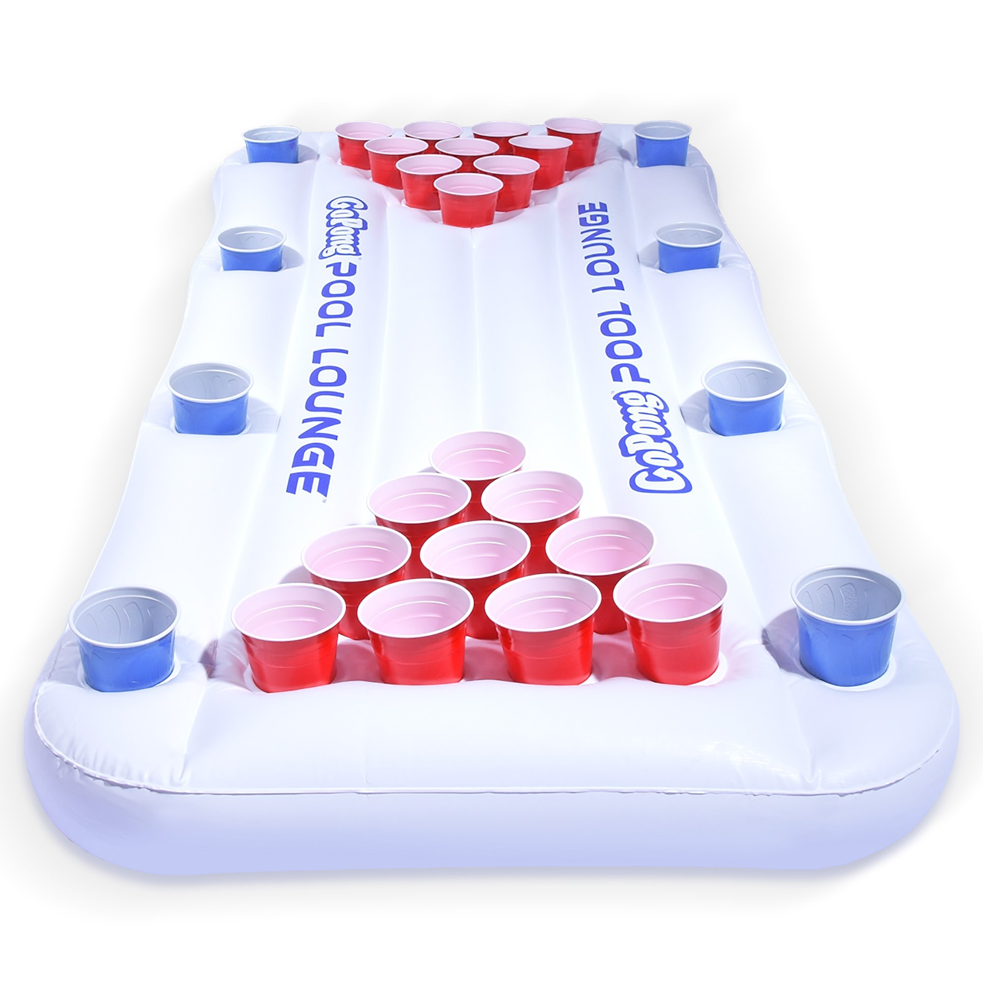 GoPong Pool Lounge Beer Pong Inflatable with Social Floating, White by GoPong