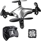 Spacekey Mini RC Helicopter Drone for Kids Quadcopter with Altitude Hold, Headless Mode, One-Key Take-Off/Landing, 3D Flip Function and Foldable Arms, Good for Beginners - Silver