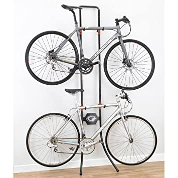gearup lean machine gravity rack redblack - Indoor Bike Rack
