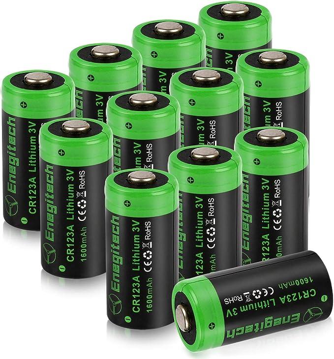 Amazon.com: Enegitech CR123A - Batería de litio (3 V, arlo ...
