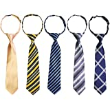 kilofly Pre-tied Adjustable Neck Strap Tie Boys Baby Necktie Value Set of 5
