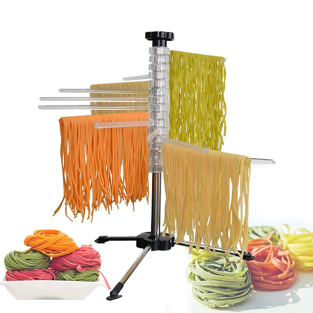 Pasta Drying Rack, Noodle Dryer of Fresh Pasta - Easily Dries All Long Noodles Steel and Polycarbonate, Collapsible by DESIOLE