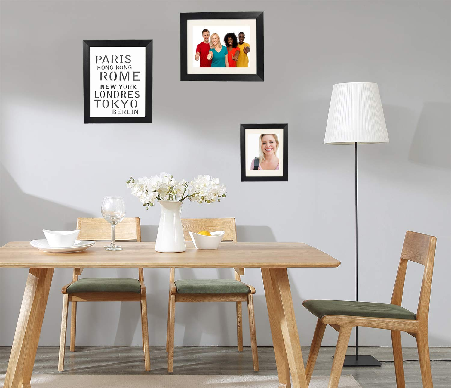 """YINGHUA 11x14 Black Picture Frame - Made to Display Pictures (8""""x10"""") with Mat or (11""""x14"""") Without Mat - Display Photos Vertically or Horizontally- Wall Mounting Material Included"""