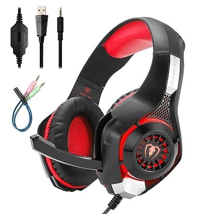 Mengshen Cuffie Gaming con Microfono per Xbox One PS4 - Over Ear Cuffia con  Isolamento Rumore 1b1fde44e4cb