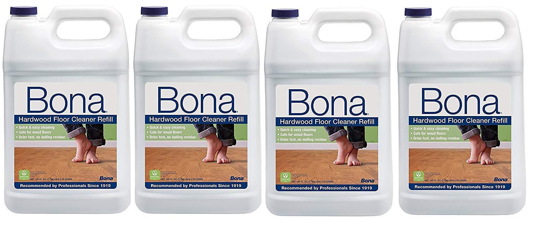 Bona US Gallon Hardwood Floor Cleaner 128 fl oz [Pack of 4]
