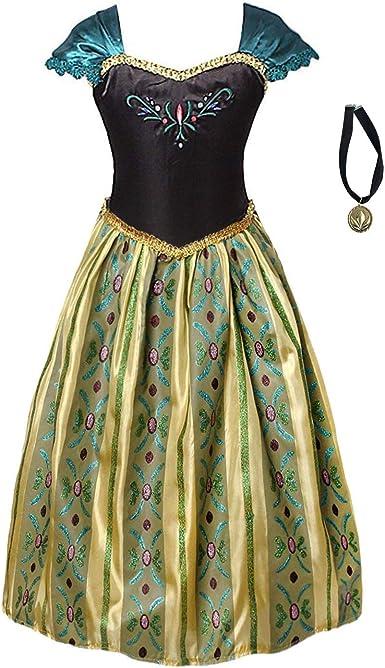 FONLAM Vestido Disfraz de Princesa Fiesta Niña Ceremonia Vestido ...