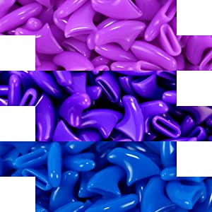 zetpo 60 pcs Cat Nail Caps, Cat Claw Caps for Cats Claws with Adhesives and Applicators (M, Purple, Violet, Blue)