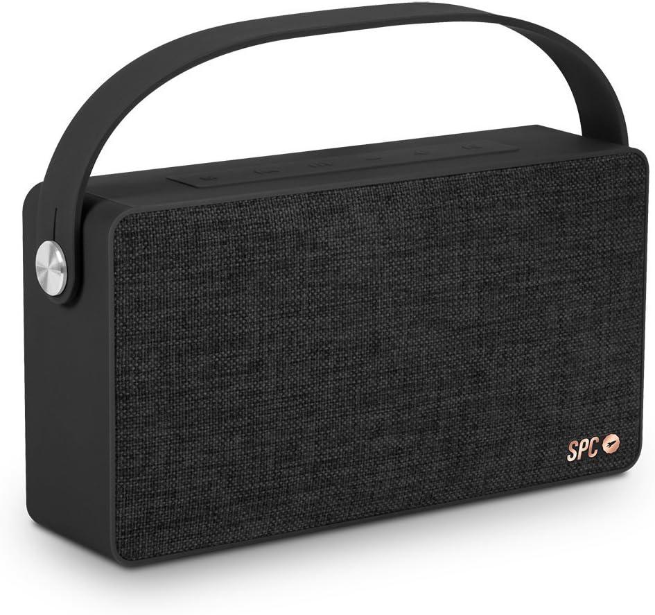 SPC Big Bang Speaker negro con acabado en tela y 20 watios de potencia