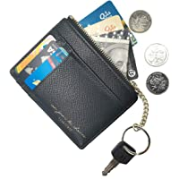 AnnabelZ Card Case Wallet Slim Front Pocket Wallet Credit Card Holder Sleeve with keychain