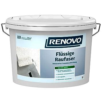 Berühmt RENOVO Flüssige Rauhfaser 10 Liter Raufaser Strukturfarbe LY69