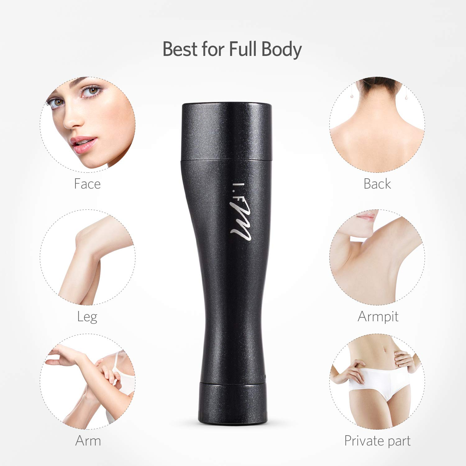 Facial Hair Removal, I.FM Waterproof Painless Flawless Hair Remover Miniature Female Facial Hair Remover by I.FM (Image #8)