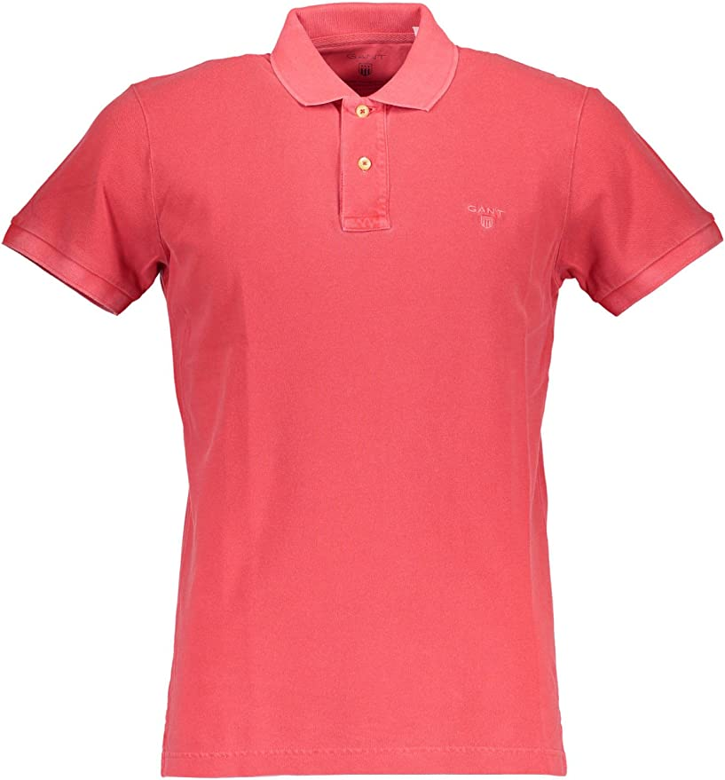 GANT Sunbleached Pique Rugger Polo, Rojo (Chrysanthemum Red 644 ...