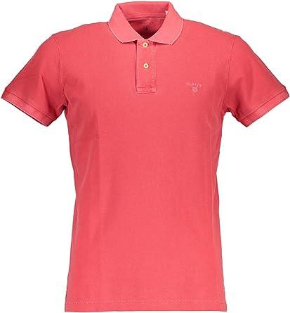 GANT Sunbleached Pique Rugger Camisa de Polo, Rojo (Rojo ...